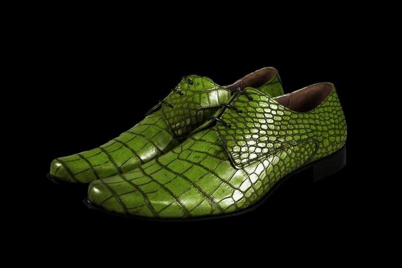 Туфли из кожи крокодила, аллигатора, каймана, питона, страуса, слона, варана.  Любые модели.